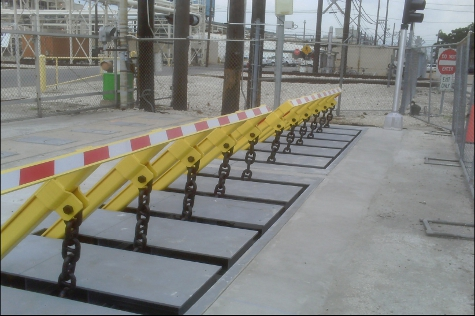 Electric vehicle Wedge Barrier